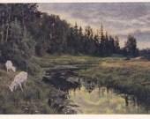 """V. Orlova """"S. Aksakov's places"""" Postcard -- 1955"""