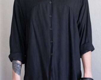 minimal rayon shirt - L