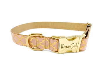 Fancy Dog Collar with Personalized Buckle
