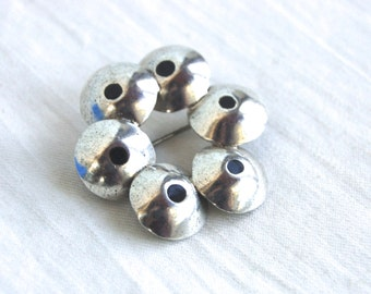 Modern Mexican Brooch Sterling Silver Pin Vintage Taxco Mexico Pods with Black Resin Modernist Wreath