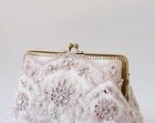 Blush romance clutch / bridesmaid gifts / Personalized wedding lace clutch purse / Vintage inspired / wedding bag / Bridal clutch