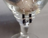 Simple Onyx and Sterling Earrings