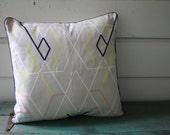 Neon Geometric Pillow, Decorative Pillow, Removable Pillow Cover, Envelope Back Pillow Cover