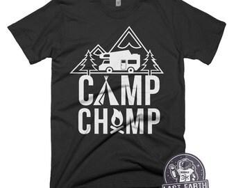 Camp Champ T Shirt Camping TShirts Camping is in Tents T Shirt Funny Camp Shirt Funny Tees Mens Hiking Hiker T Shirt Climbing Gifts Present