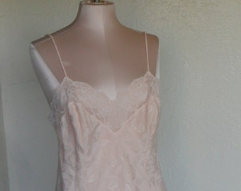 Vintage Camisole Peach Satin Lace Size 34 Cami by Applause