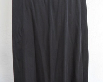 Midi Half Slip Black Size L Cabernet Slip Skirt