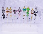 "Stick  Pins 3"" RESERVED FOR IVY  Handmade Custom Order Crystals  New"
