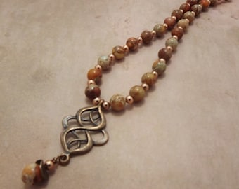 Celtic Desert Jasper and Copper Necklace