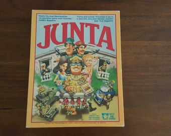 Junta, Classic Comic Revolution Board Game, Vintage 1985 West End Games 2nd Edition unpunched like new