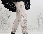 Dragonfly Leggings  - LOTUS Flowers  Original Art Legging by Carousel INk - YOGA Womens Leggings - Tights
