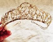 Wire Crown, Bridal headpiece, Wire Tiara, Boho Jewelry, Wire-wrapped jewelry, Wedding Headpiece, Boho Headpiece, Wire Jewelry, Wire Headband