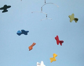 AIRPLANE MOBILE-D1,Wood,Airplane Mobile,Baby Mobile,Toy Airplane Mobile,Nursery Mobile,Baby Shower Gift, Rainbow Airplane, Planes, Mobile