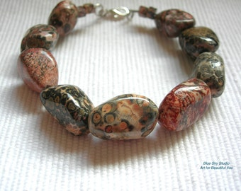 Leopardskin Jasper Bracelet / Bangle