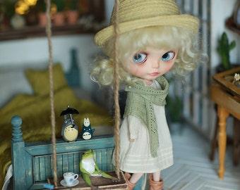 Miss yo 2016 Summer & Autumn - Vintage Dress for Blythe doll - dress / outfit - Beige