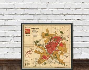 Grodno map - Old map of Grodno - Hrodna map