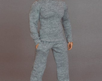 1/6th scale XXL grey sweatpants tracksuit bottoms for Hot Toys TTM 20 size bigger action figures and male fashion dolls