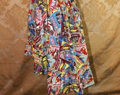 "High Low Mini Cecilia Skirt -- Marvel Comics Collage -- Ready to Ship -- Fits Up To 38"" Waist"