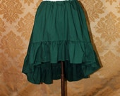 "High Low Mini Cecilia Skirt -- Forest Cotton -- Ready to Ship -- Best Fits Up To 34"" Waist"