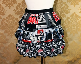 "Ruffle Bustle Overskirt - 3 Layer, Sz. XS - Walking Dead Zombie Theme - Best Fits Up to 34"" Waist or Upper Hip -- Ready to Ship"