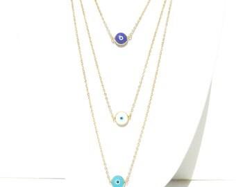 Evil Eye Necklace - Gold Chain - Evil Eye Pendant - Elegant Stylish Necklace // Aylin