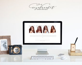 Website About Me Page template-Instant download-Photographer About Me Page design