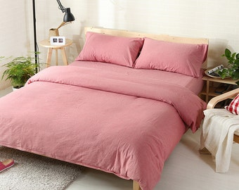 Pillow case 100% Linen Flax Dusty Rose color - Washed Softened - Housewife Standard Queen King Euro -  Ideal for HOT climate