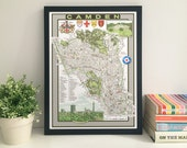 Camden (Borough) illustrated map giclee print