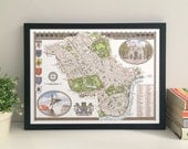 City of Westminster (Borough) illustrated map giclee print