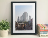 Shoreditch Church and The City from Hoxton Station 48 x 33 cm fine art print