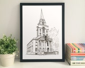 Christ Church Spitalfields giclee print
