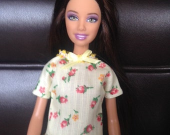 Handmade Casual Outfit for Barbie - Yellow