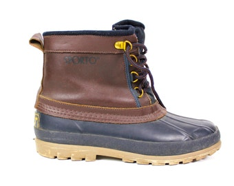 """Vintage Retro Leather """"Sporto"""" Rain Snow Boots Size Womens 7"""