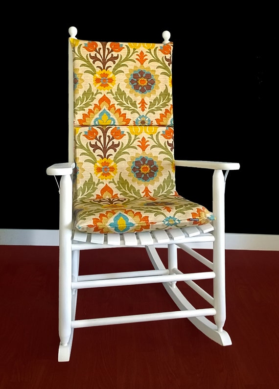 Colorful Floral Rocking Chair Cover