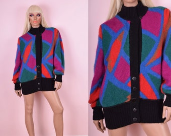 80s Colorful Wool Sweater