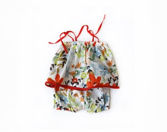 floral ruffle newborn baby matching summer set