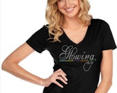 Bling Glowing Rodan & Fields Custom Rhinestones Glam Bedazzled Shirt -- NEW Item!!