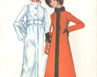 Faux fur-trimmed coat pattern in 2 lengths -- McCall's 2676