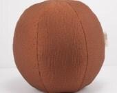 Copper Dot Throw Pillow- Beach Ball Throw PIllow- Great for Dorm room decorating by beckyzimmdesign