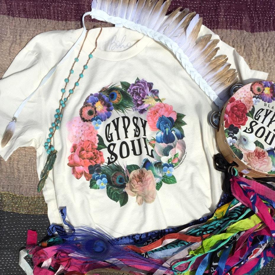 Gypsy Shirt Gypsy Soul Medium Boho Chic Boho Clothing