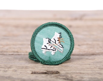 """Vintage Girl Scout Patch / 1970's Scout Patch / Ice Skating Badge - Roller Skating Badge / 1.5"""" Girl Scouts Patch / Scout Badge"""