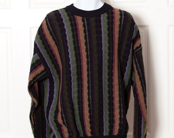 Vintage 90s Men's Textured Sweater - vintage new - STRUCTURE - L