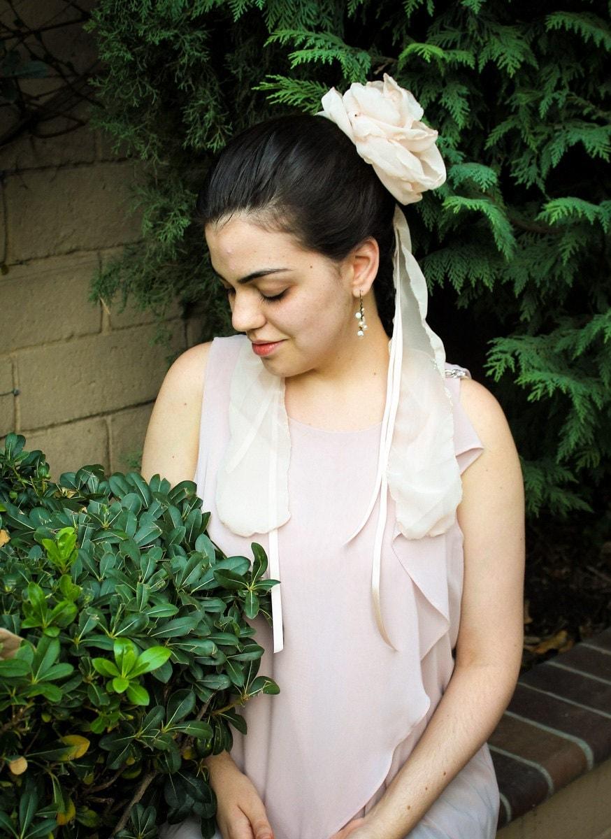 Bridal Hair Flower Wedding Blush Pink