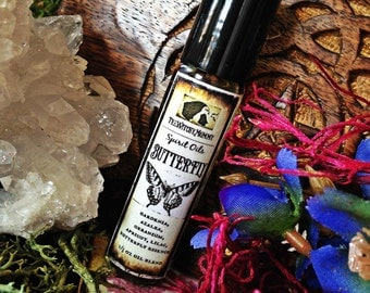 BUTTERFLY SPIRIT OIL - Anointing Ritual Oil, Animal Totem Oil, Channeled Insect Medicine - Meditation, Witchcraft, Magick, Hoodoo
