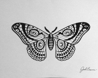 "Original screenprinted butterfly prints (11"" x 17"")"