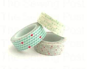 Washi Tape Set: Mint Love