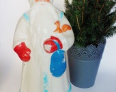 LARGE Santa Claus, Collectible, Large Soviet Toy, Vintage Christmas, Retro, Figurine, Father Frost,  Дед Мороз, CHRISTMAS DECOR