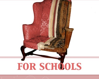 FURNITURE UPHOLSTERY For SCHOOLS Rare illustrated Tutorial Book Teach Yourself Upholstering Read on Your iPad or Tablet Instant Download