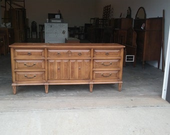 Vintage retro mid century modern  Dresser / Buffet / Media center, tv console, CHOOSE YOUR COLOR / pick up & local delivery