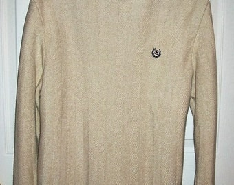 Vintage Men's Cream Cotton Sweater by Chaps Medium Only 5 USD