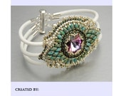 Tutorial , Bead embroidery ,Beading pattern , Instructions only, Maracesh bracelet